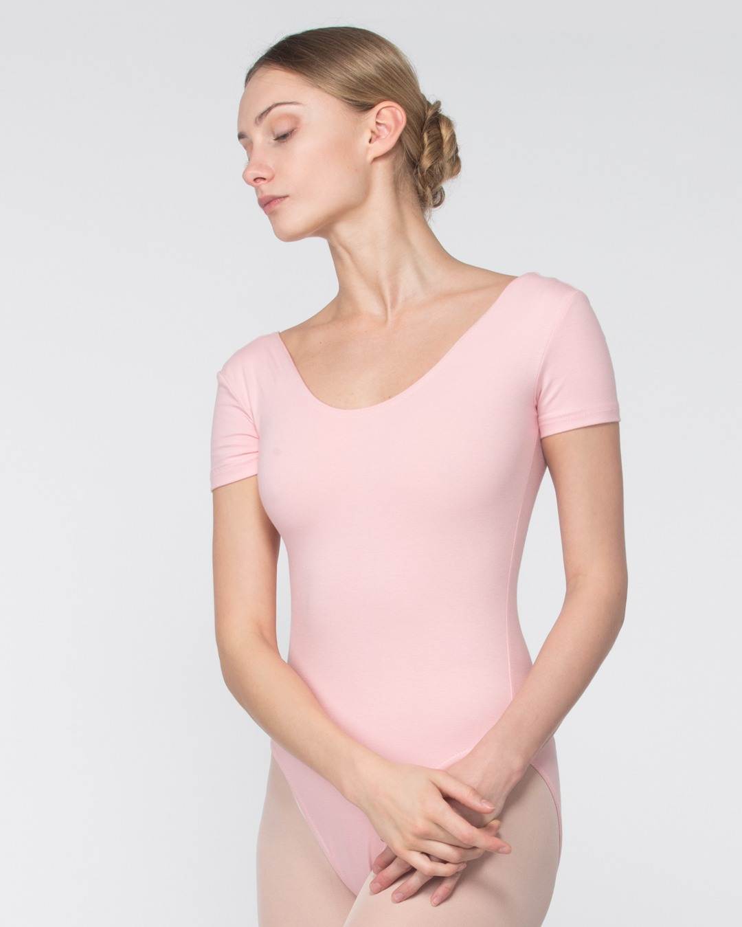 Short sleeve leotard, with lining